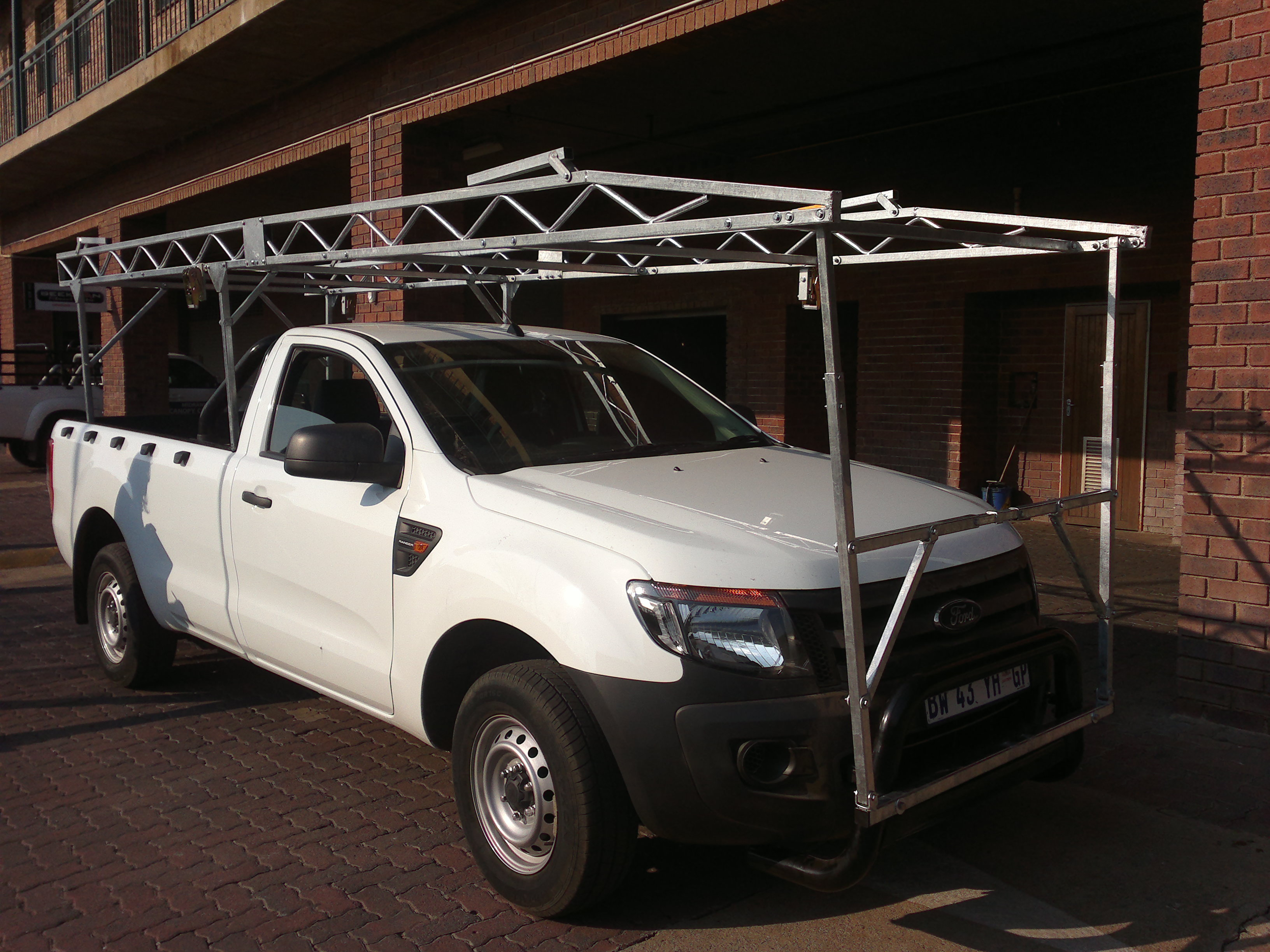 FORD RANGER T6 BUMPER TO BUMPER BAKKIE RACK & Bakkie Racks | Galvanized Steel | Lifetime Guarantee