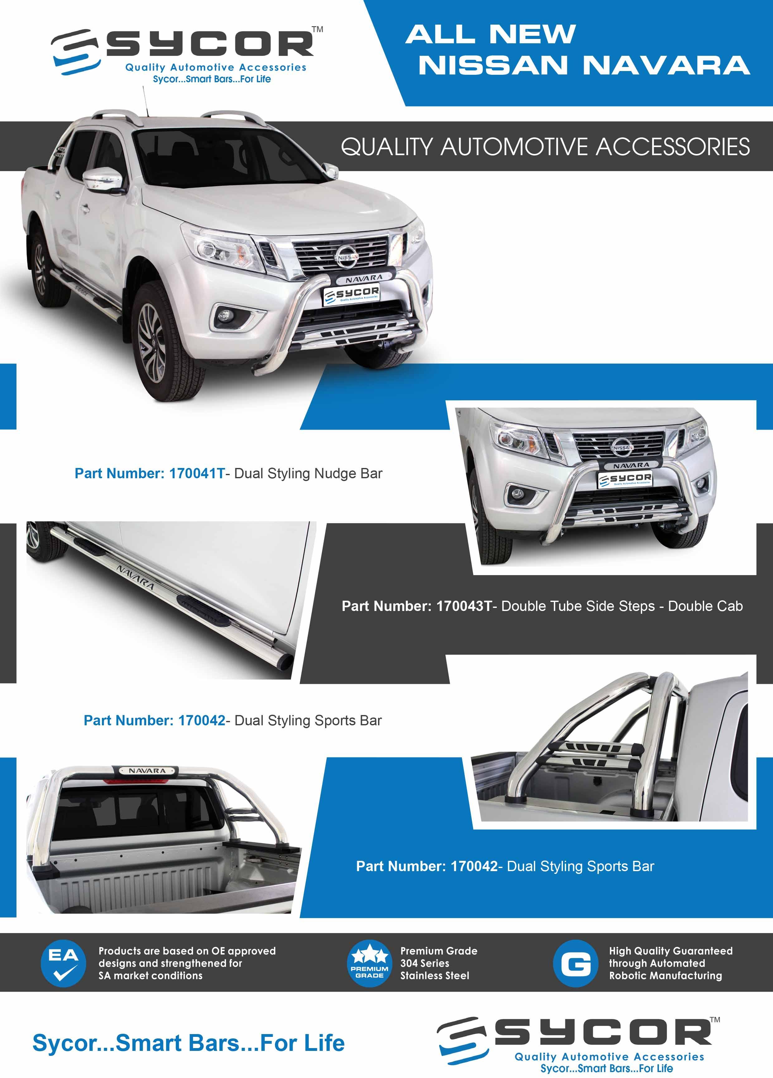 Nissan Navara Nudge Bars and Roll Bars
