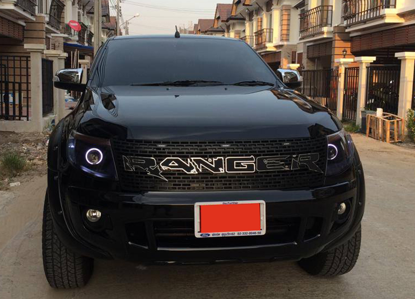 Ford Ranger Raptor Grills Led White Black And Grey