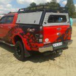 Ranger Double Cab Aluminium Canopy with rack