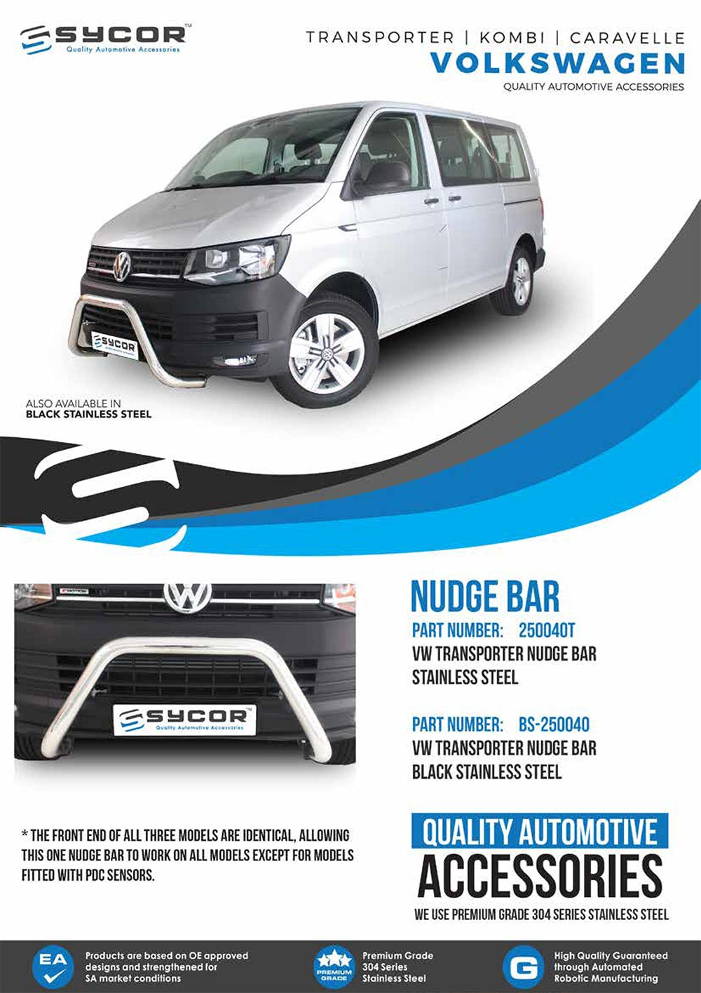 VOLKSWAGEN TRANSPORTED NUDGE BAR