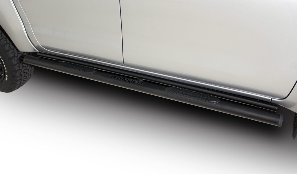 Ford Ranger T6 Side Steps Double Cab Black Stainless Steel