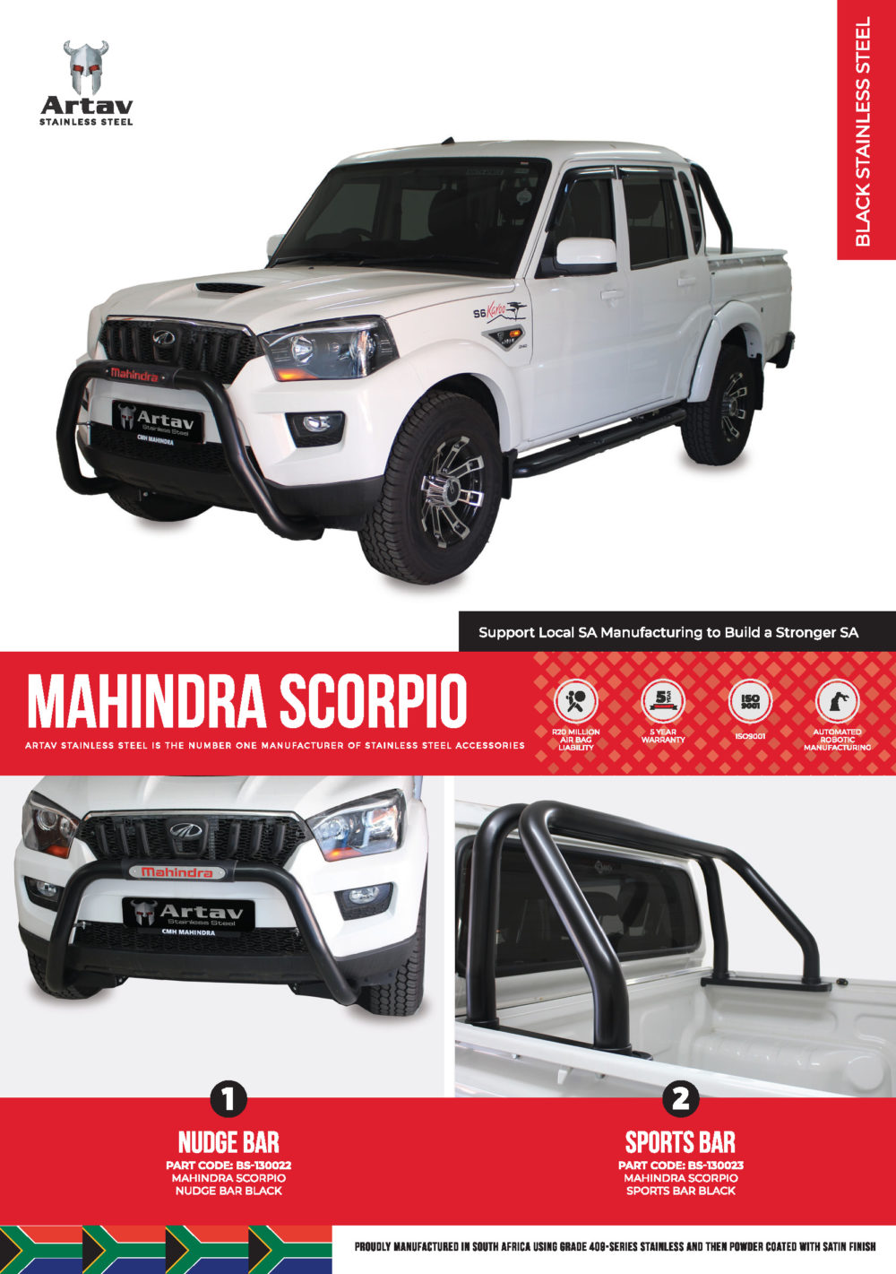 Mahindra Scorpio Nudge Bars, Roll Bars/Sports Bars and Side Steps